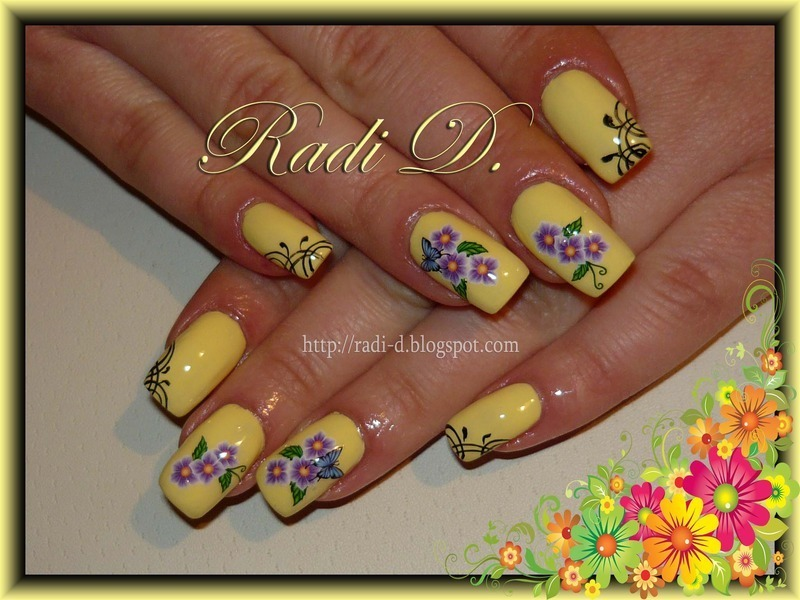 Spring is comming nail art by Radi Dimitrova