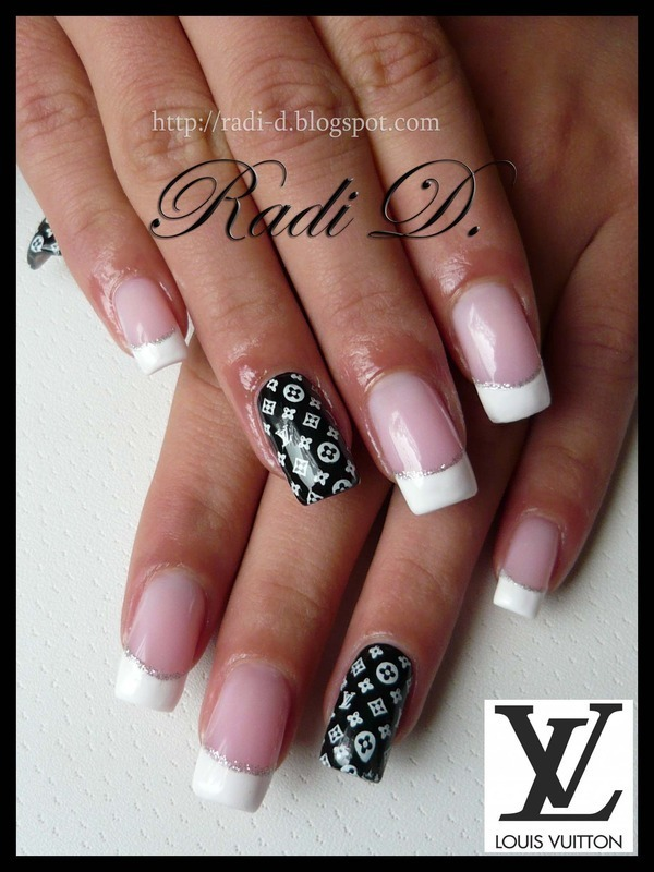 Louis Vuitton nails nail art by Radi Dimitrova