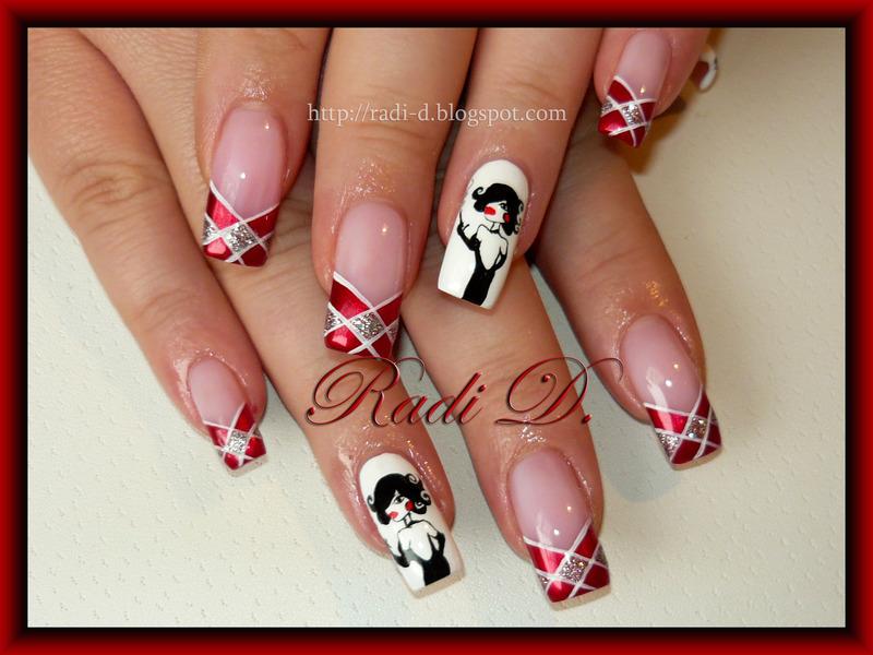 Marilyn decoration nail art by Radi Dimitrova