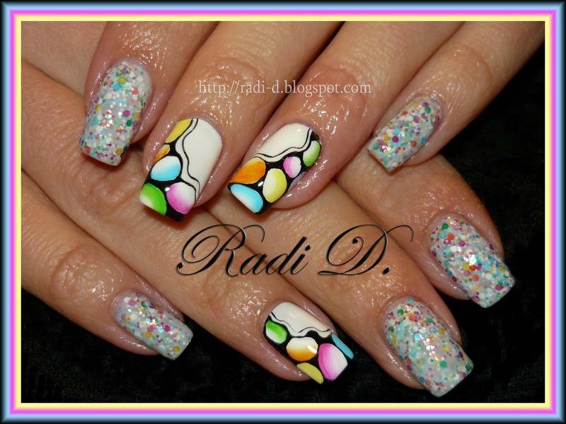 Sweet Like Candy nail art by Radi Dimitrova