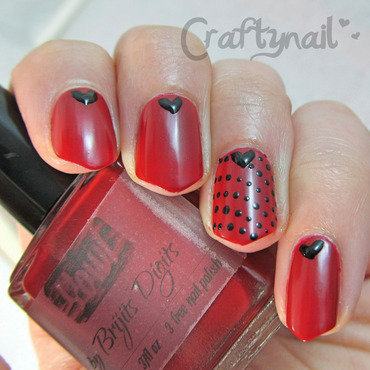Red valentines nails thumb370f
