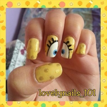 SpongeBob SquarePants nail art by Magaly
