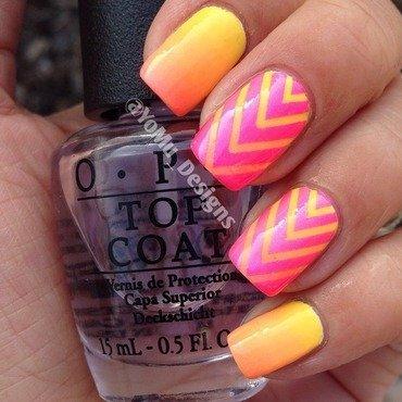 Summer Lines nail art by JMura_Designs