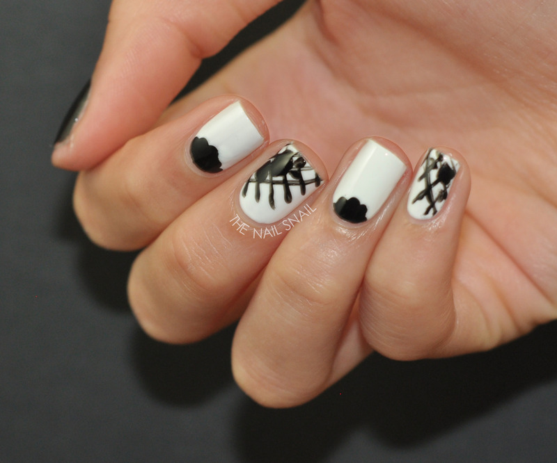 Black Lace nail art by Lucy (the Nail Snail)