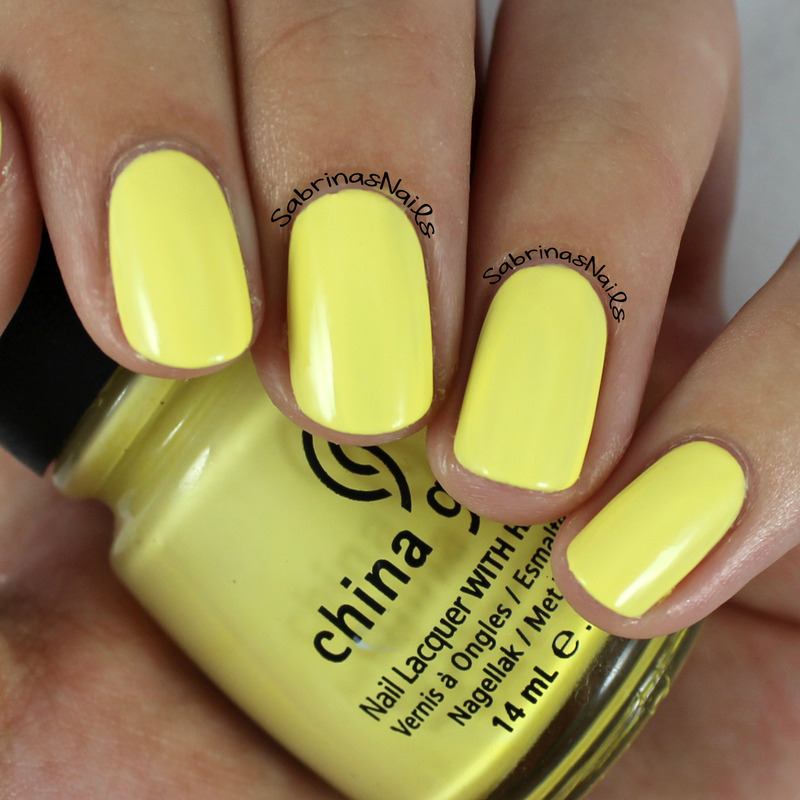 China Glaze Lemon Fizz Swatch by Sabrina