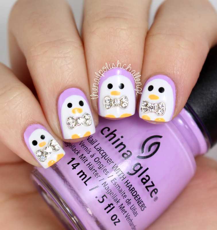 Penguin Nail Art nail art by Kelli Dobrin