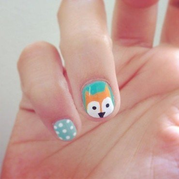 Fantastic Mr. Fox nail art by Cami Grimaldi