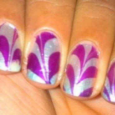 WATER MARBLE nail art by Nailfame