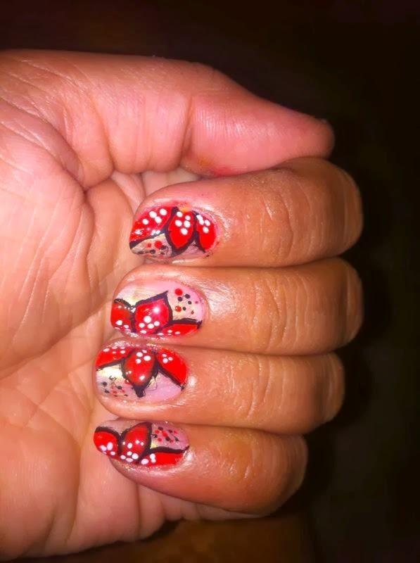 FLOWER PETALS nail art by Nailfame