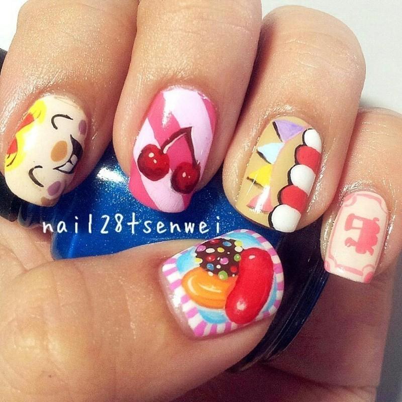 candy crush nail art by Weiwei