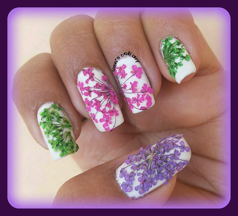 spring every where.. nail art by Uma mathur