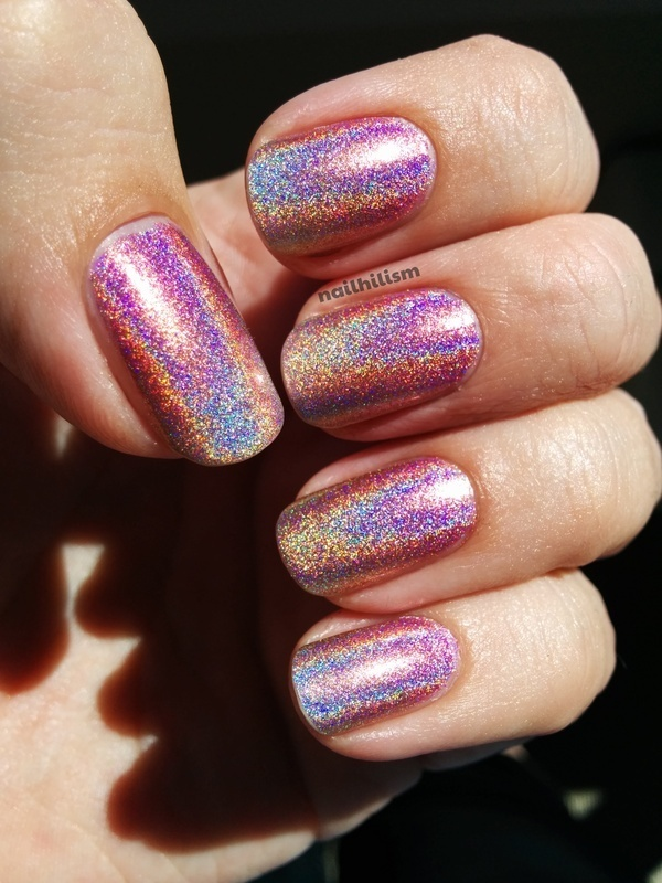 Color Club Miss Bliss, Color Club Cosmic Fate, and Color Club Kismet Swatch by Harriet Lockett