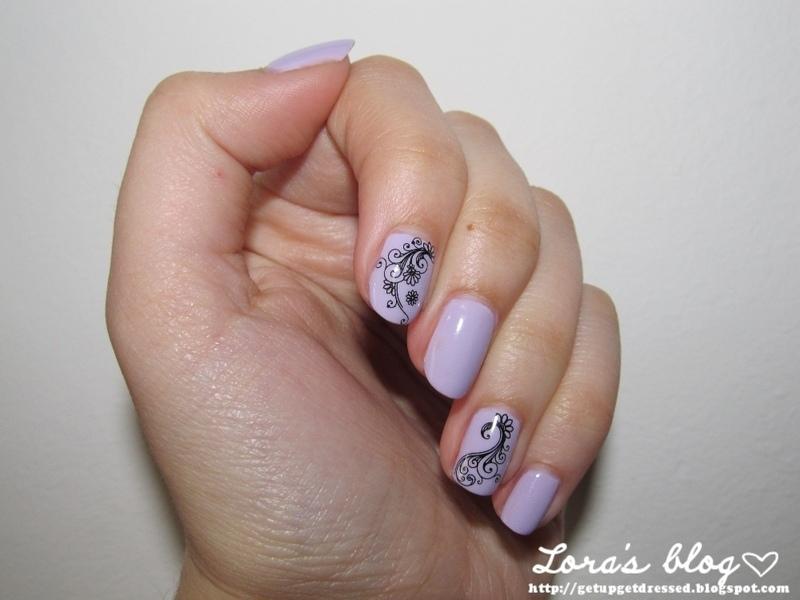 Pastel Purple nail art by Lora