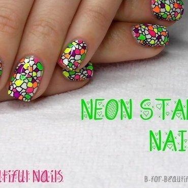 Neon Stamping Nail Art ♥ nail art by B.