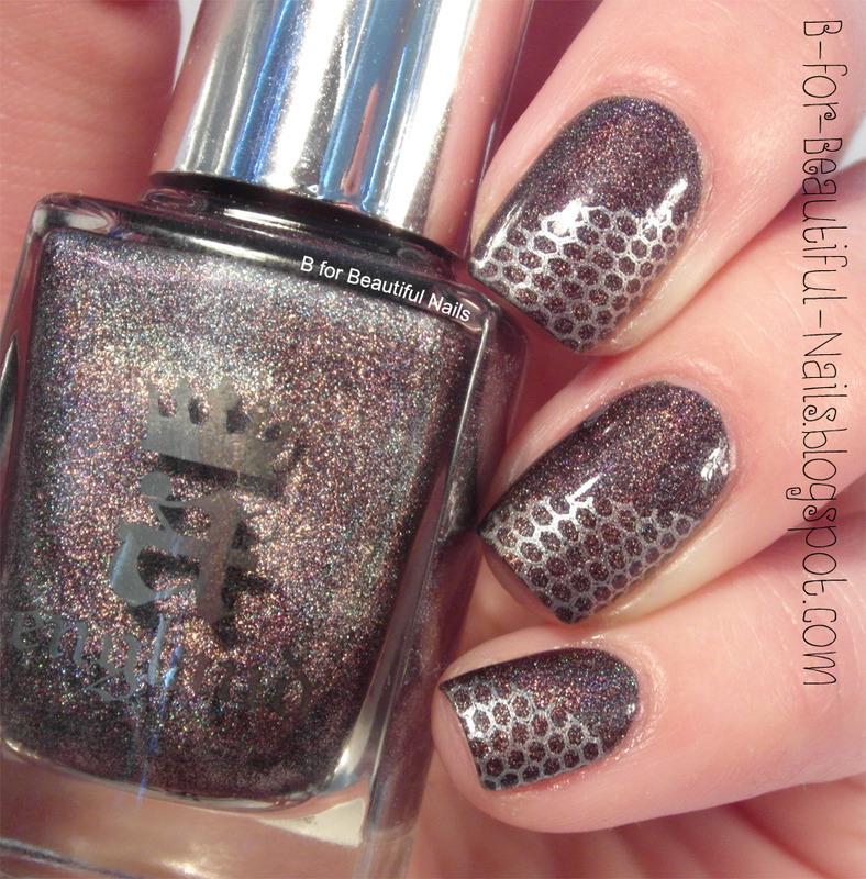 Silver Beauty nail art by B.