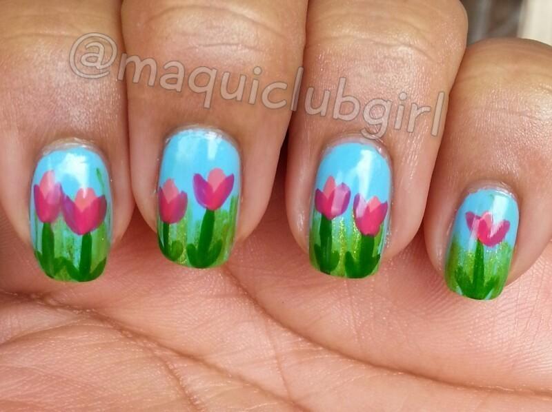 Hope's Sky nail art by maquiclubgirl