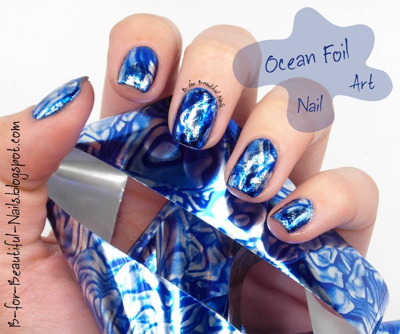 Ocean Foil ♥ nail art by B.