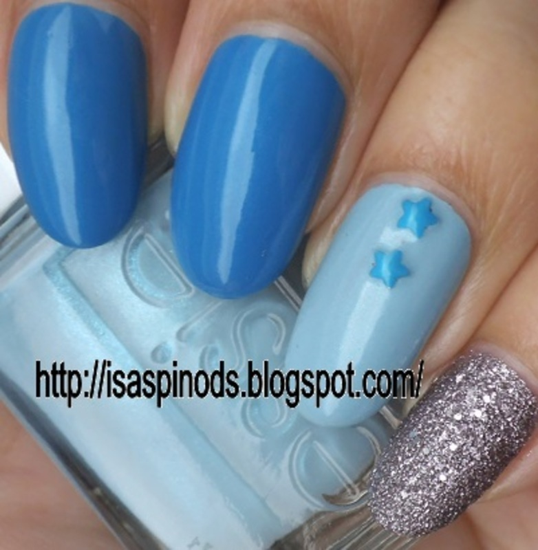 Simple Blue Skittle! nail art by Isabel