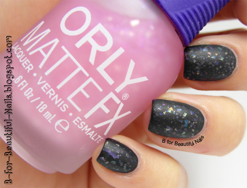 Orly Pink Flakie Top Coat Swatch by B.
