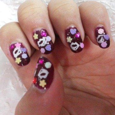 local shimmery maroon nail polish Swatch by HerCreativePalace (kanika)