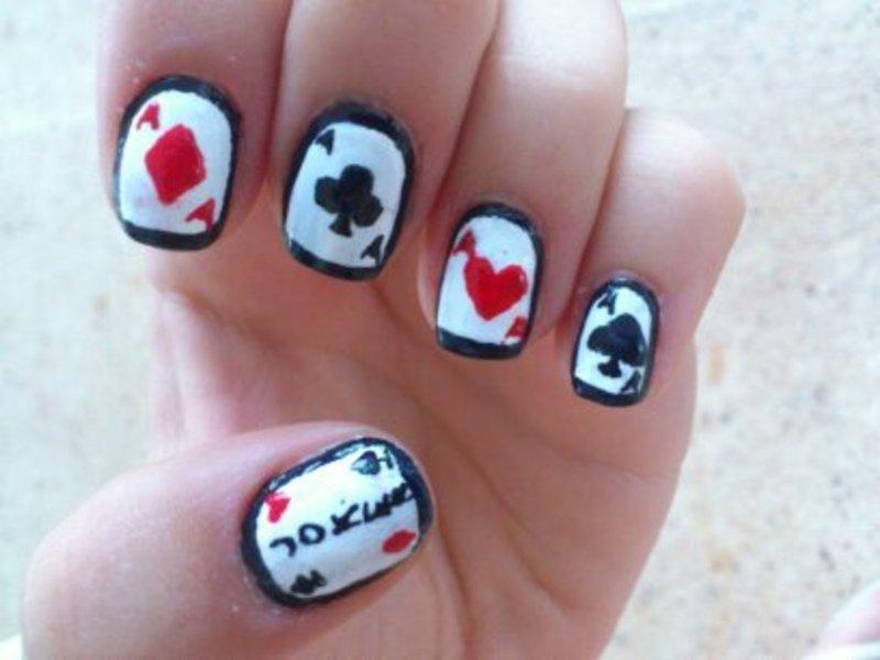 POKER NAILS nail art by GepeNails