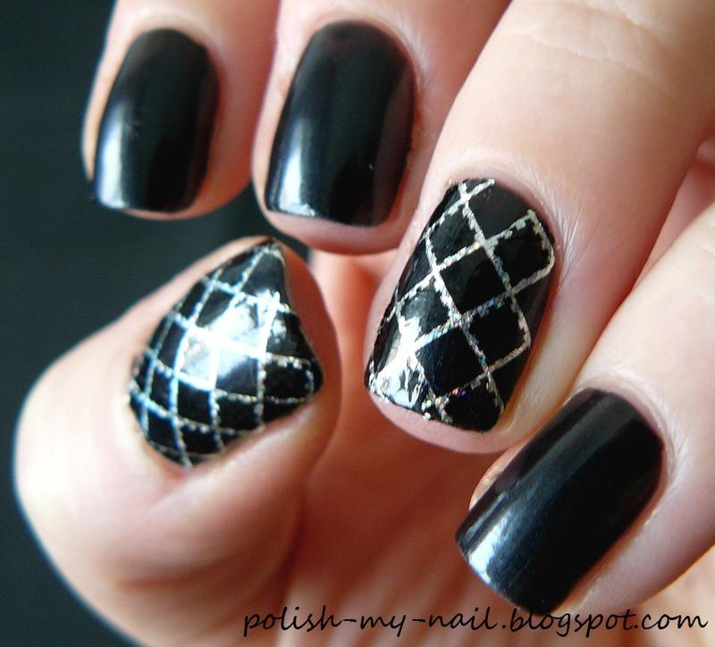 Transfer foil nail art by Ewlyn
