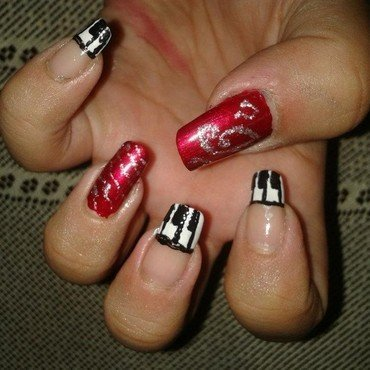 Musical notes nail art nail art by HerCreativePalace (kanika)