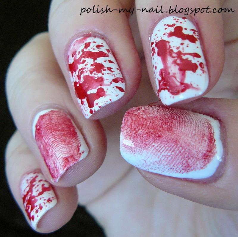 Bloody nails nail art by Ewlyn