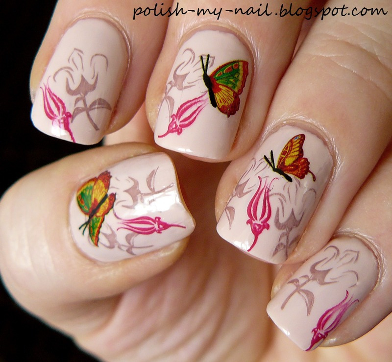 Butterflies nail art by Ewlyn
