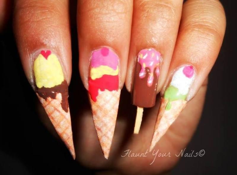 Affair with Ice Creams <3 nail art by Vidula Kulkarni