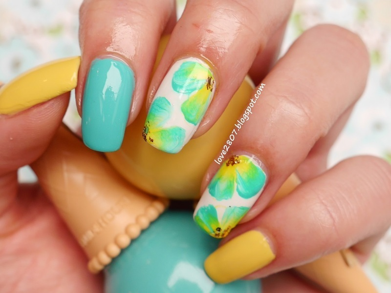 Flower Song nail art by Anhy