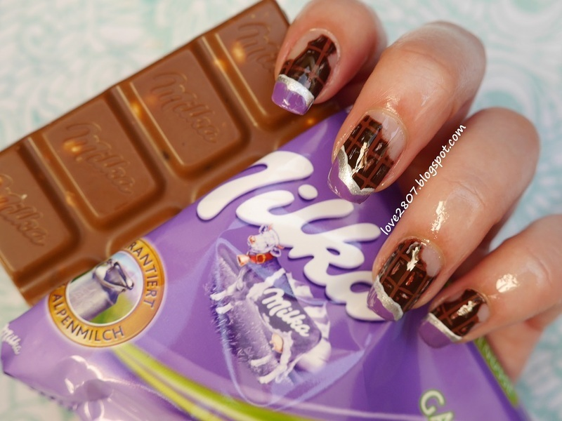 Addicted to chocolate nail art by Anhy