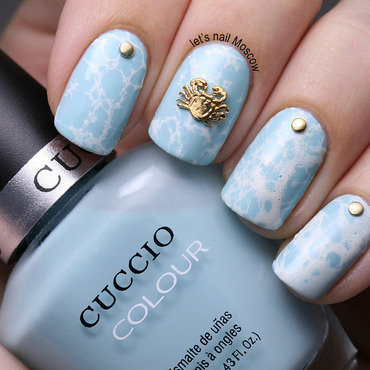 Cuccio colour nail polish chicago winds 6104 sea ocean water nail art hex charms crab charm bornpretty gold studs water marble spotted                                                lets nail moscow thumb370f