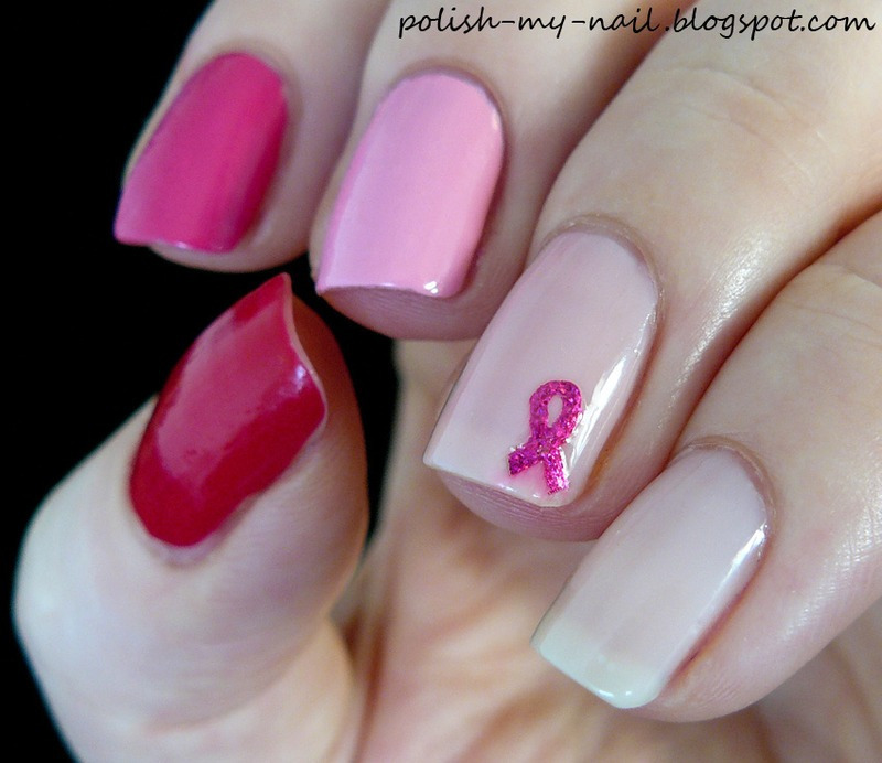 Pink ombre nail art by Ewlyn