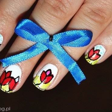 World Parkinson's Day nail art by Amethyst