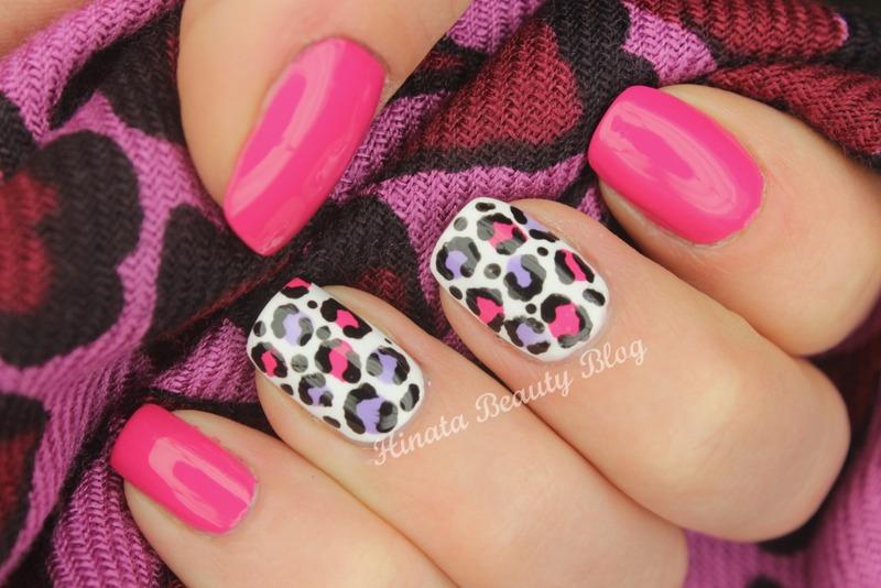 Pink and violet Leopard print nail art by Hinata - Nailpolis