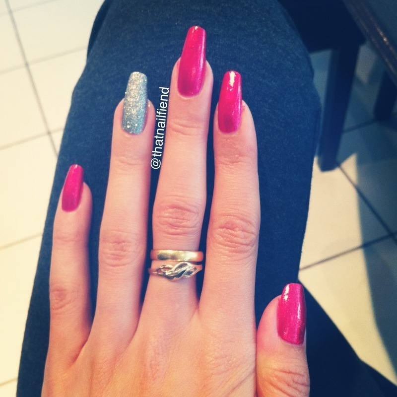 Nicole by OPI Silver Gumdrops and Nicole by OPI Scarlett Swatch by  thatnailfiend