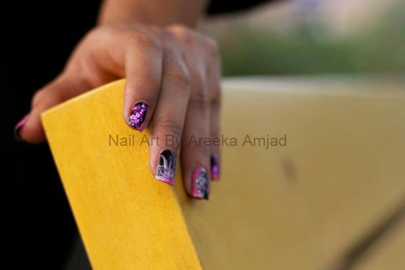 spark plum nail art by arika