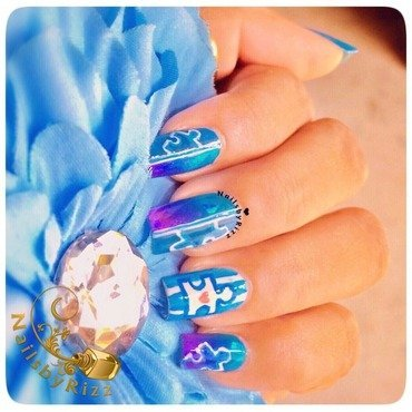 PAINT IT BLUE  nail art by Nailsbyrizz