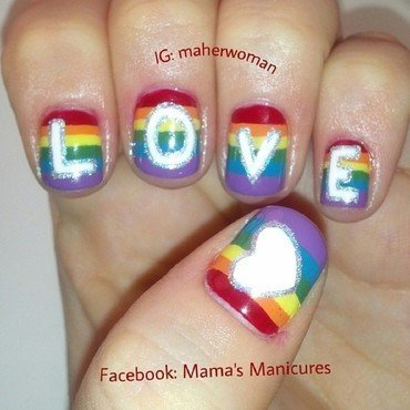 Love is Love nail art by Mama's Manicures (maherwoman)