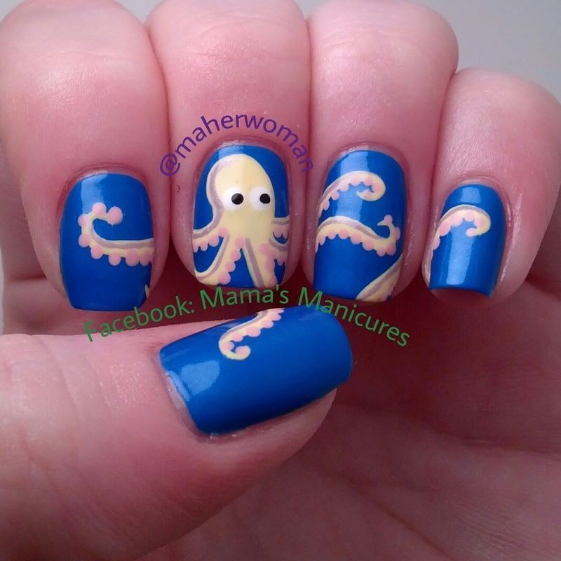 Octopus nails nail art by mamas manicures maherwoman octopus nails nail art by mamas manicures maherwoman prinsesfo Image collections