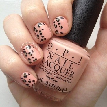 Gold Leopard Print nail art by allpolishedout