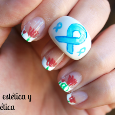 Parkinson's Day - French decorated nail art by MartaRuso