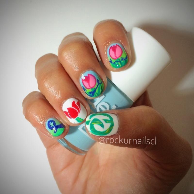 World Parkinson's day Nail Art Challenge nail art by Cami Grimaldi