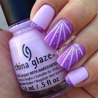 Purple Explosion nail art by JMura_Designs