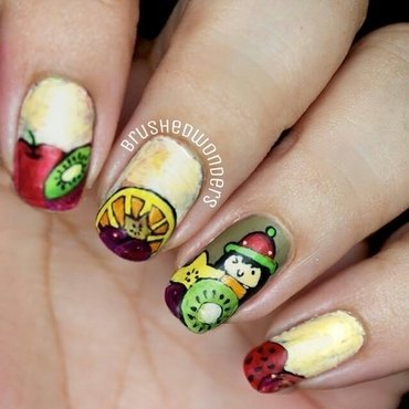 tutty fruitty nail art by Kate