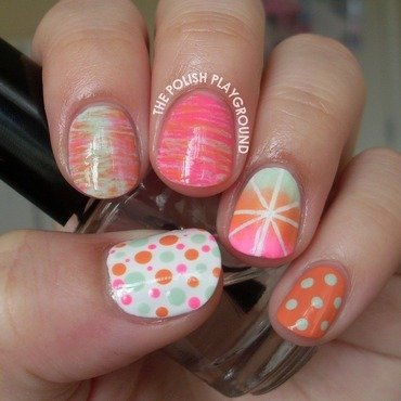 I'm Ready For Spring Skittle nail art by Lisa N