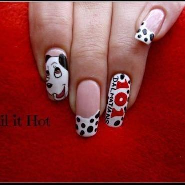 101 dalmatians nail art by Nail_it_hot