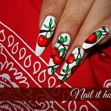 Cherres nail art by Nail_it_hot