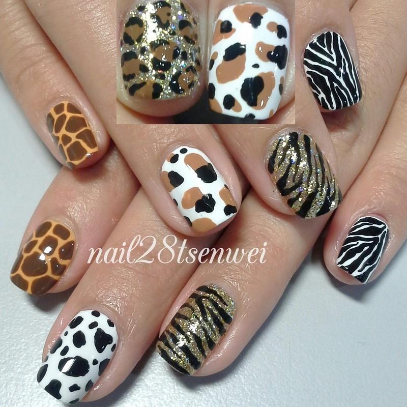 zoo nail art by Weiwei